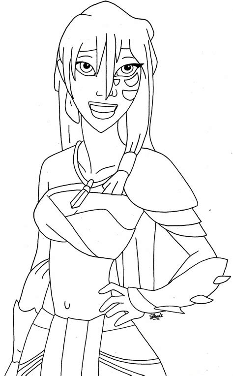 princess kida coloring page kida by power2theheart on deviantart