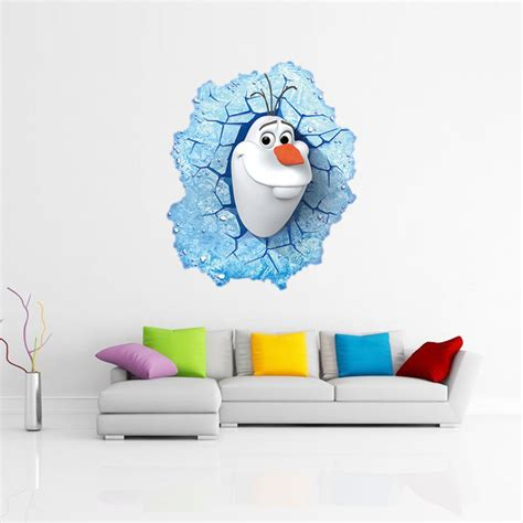 3d animation frozen aisha princess home decor wall online buy wholesale 3d door decals from china 3d door