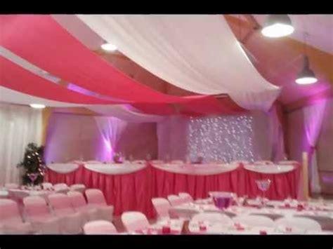 theme rose et noir mariage theme fushia decorations salles mariage salles