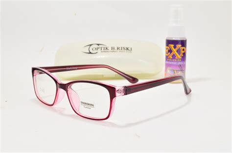 Kacamata Gratis Lensa Anti Uv Supersin jual kacamata korea 6182 frame lensa optik b riski