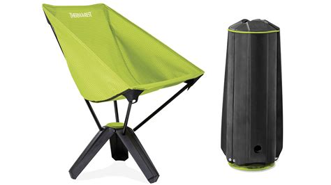 a comfy compact cing chair that packs away into its own