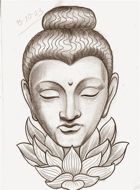 tattoo designs buddha face sketch a day religious october 15th 21st