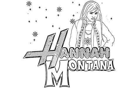 hannah montana coloring sheets printable coloring pages