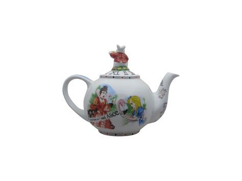 Alice in Wonderland White Rabbit Two Cup Teapot   Stoke