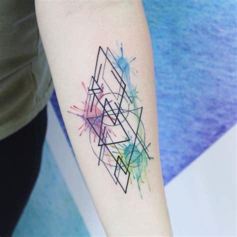 elegant tattoo 4 geometric forearm tattoo on