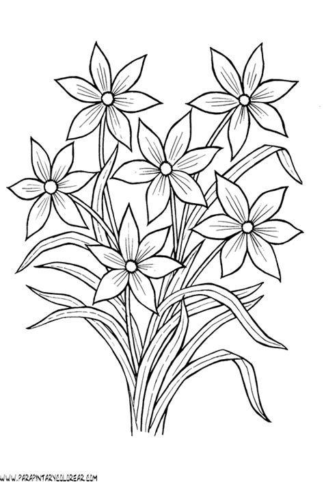 imagenes para pintar de flores dibujo para pintar de flores imagui