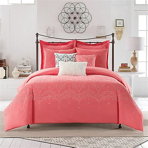 coral twin xl comforter buy anthology scarlet twin xl comforter set in coral from
