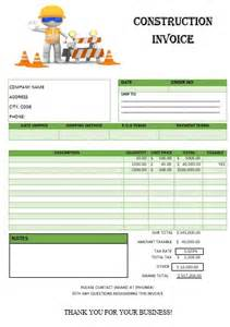 sample construction invoice template | example good resume template, Invoice templates