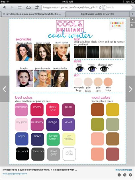 worst colors color analysis for winter palette beth j mckee my