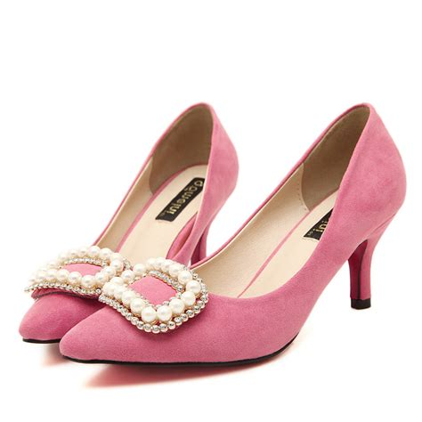 Womens Wedding Shoes For Sale by Popular Pink Low Heel Shoes Buy Cheap Pink Low