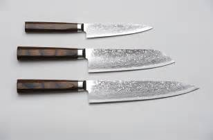 Japanese Kitchen Knives R4 Damascus 3 Piece Set Paring Knife Santoku Knife And