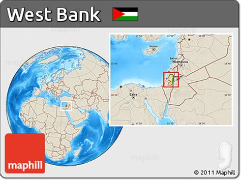 bank of the west locations free physical location map of west bank shaded relief outside