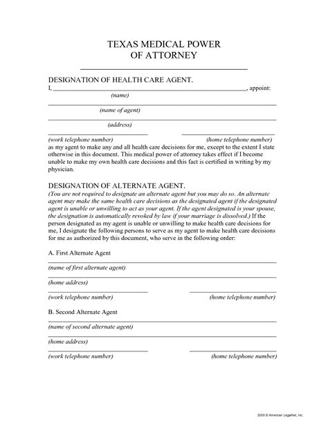 best photos of medical power of attorney form sle