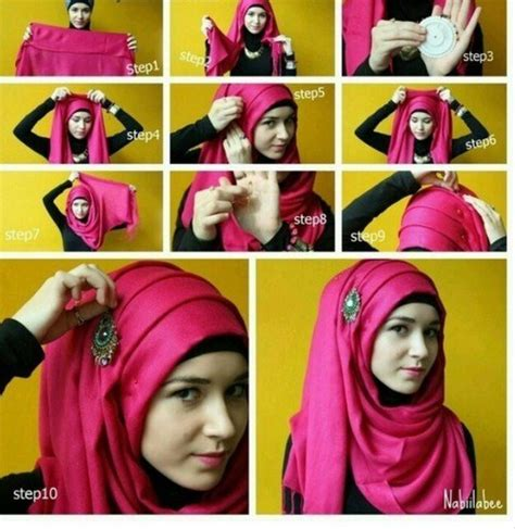 step by step pictorial tutorials of different style puff how to wear hijab step by step tutorial in 15 styles