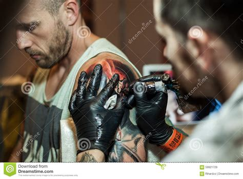 tattoo prices galway tattoo artists at work editorial stock image image 59921729