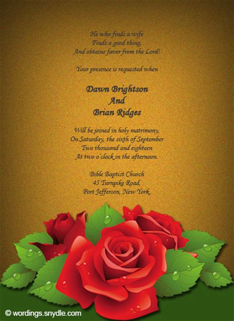 Wedding Bible Message by Christian Wedding Invitation Wording Sles Wordings