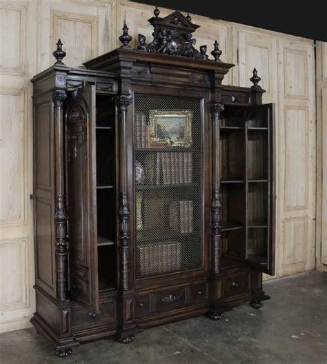 19th century italian renaissance display armoire bookcase