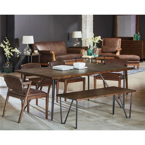 Hairpin Legs Dining Table 6 Hairpin Dining Table With Metal Hairpin Legs By Magnolia Home By Joanna Gaines Wolf And