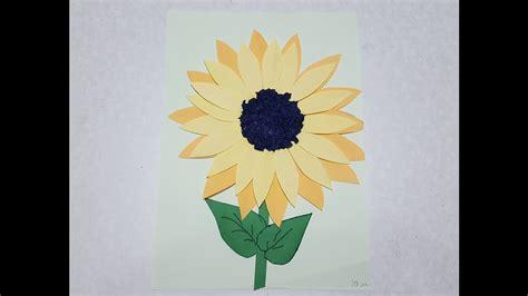 Basteln Mit Buntpapier by Sonnenblume Basteln Mit Buntpapier