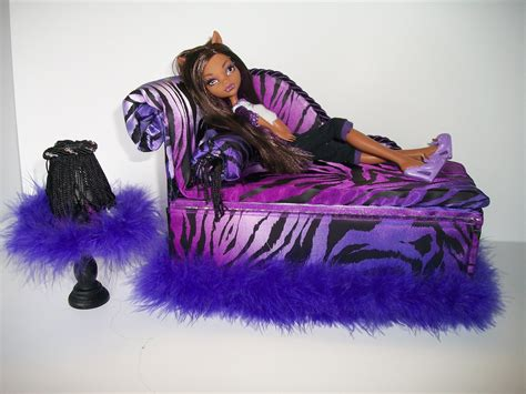 monster high bed furniture for monster high dolls handmade chaise lounge bed