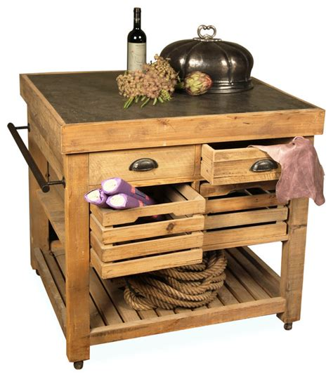 belaney rustic lodge pine wood small kitchen island