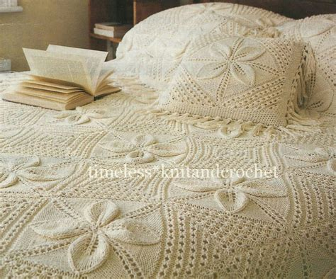 knitted bedspread vintage knitting pattern for a beautiful heirloom