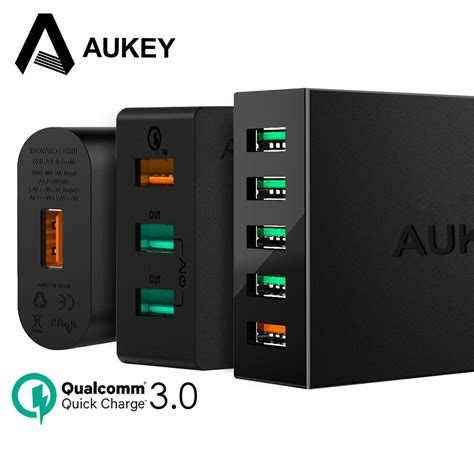 Samsung Xiaomi 4x aukey charge 3 0 fast usb charger for samsung galaxy s8 xiaomi redmi 4x iphone universal