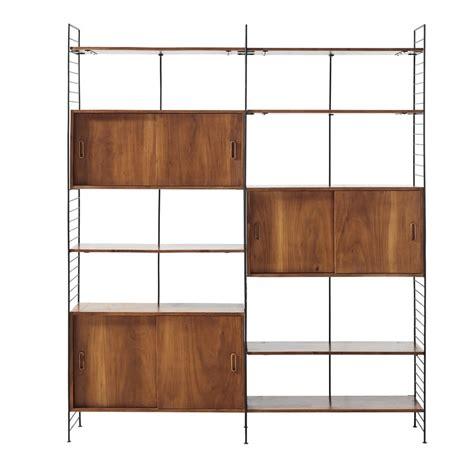 scaffali in metallo scaffale vintage a 6 ante in metallo nero e legno massello