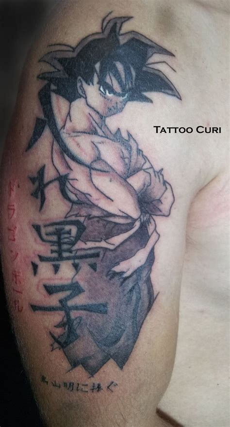 ball tattoos designs tatuaje goku by curi222
