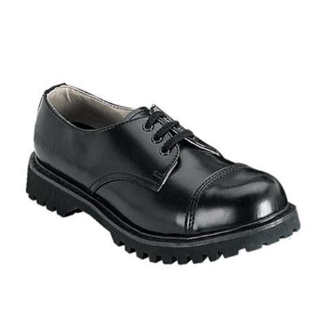 demonia rocky 03 mens black leather work shoes demonia shoes