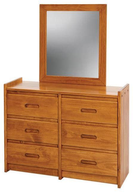 Armoire Dresser With Mirror by 43 In Wooden Dresser With Mirror