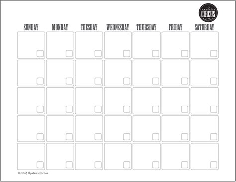 printable weekly calendar no dates via the ringmaster 187 life