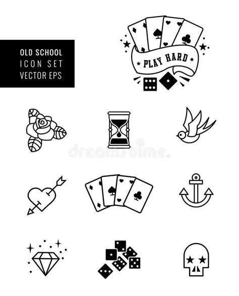 tattoo icons icon set stock vector illustration of bird icon