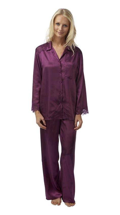 Original Hm Soft Lace Sleepwear womens satin pj set silk pyjamas pajama plus size