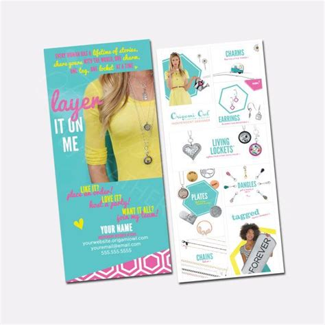 Origami Owl Coupon Code - custom origami owl rack card file like www
