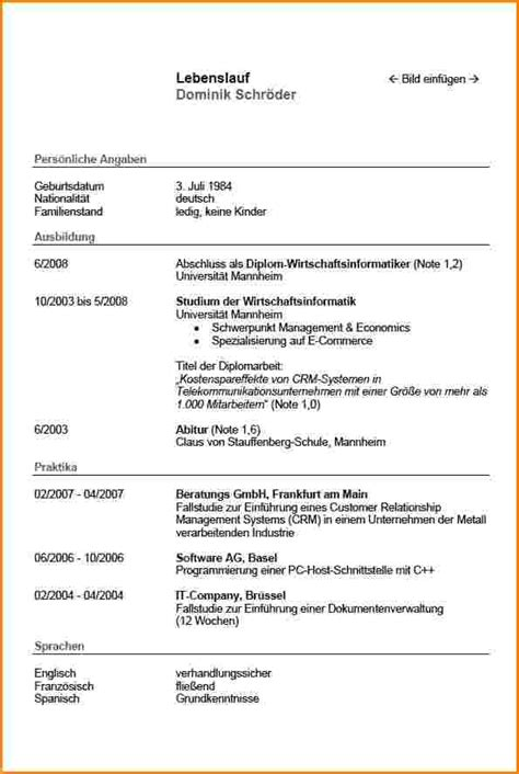 Lebenslauf Muster Fur Studium Tabellarischer Lebenslauf Studium Reimbursement Format