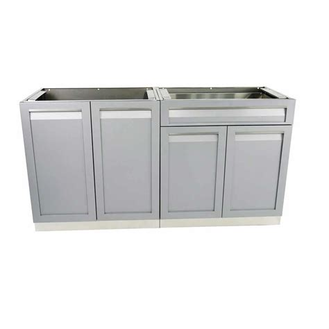 4 Life Outdoor Stainless Steel 2 Piece 64x35x22 5 In Outdoor Kitchen Stainless Steel Cabinet Doors