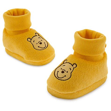 winnie the pooh house shoes winnie the pooh gold slippers soft shoes infant costume disney baby store 2014 ebay