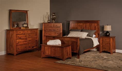 bed  dresser set amish solid wood bedroom set amish furniture factory