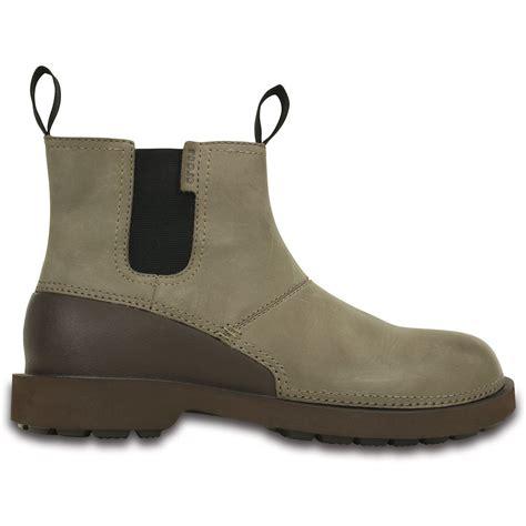 mens crocs boots crocs breck boot walnut espresso mens lightweight leather