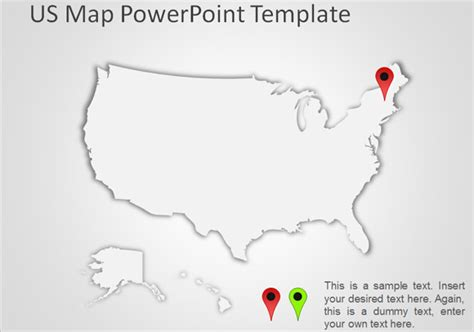 united states map powerpoint template best editable usa map designs for microsoft powerpoint