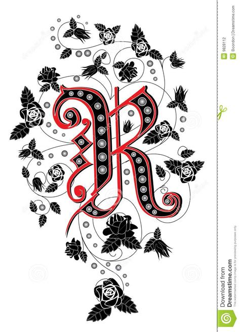 letter r stock vector image of tattoo brand alphabet