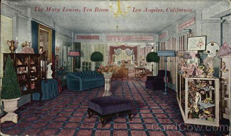 tea rooms los angeles the louise tea room los angeles ca postcard
