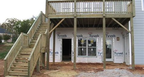 second story deck plans pictures residential and commercial fence fabrication raleigh