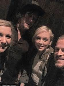 Dead s norman reedus pictured dining with his former co star emily