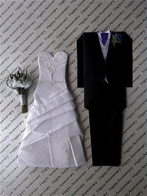 Origami Groom - origami groom favors place card ideas
