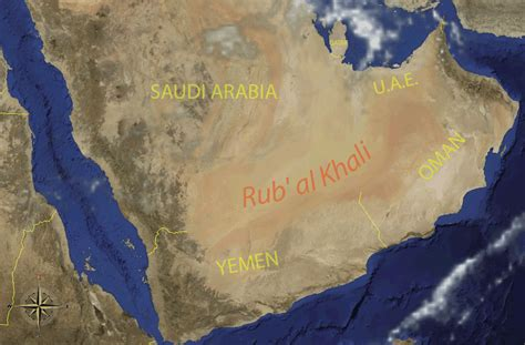middle east map rub al khali desert kilometer 1 0 table 9 rub al khali the legendary sea