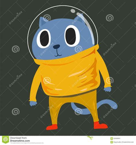 Vector Cat In Space cat in space suit stock vector image of