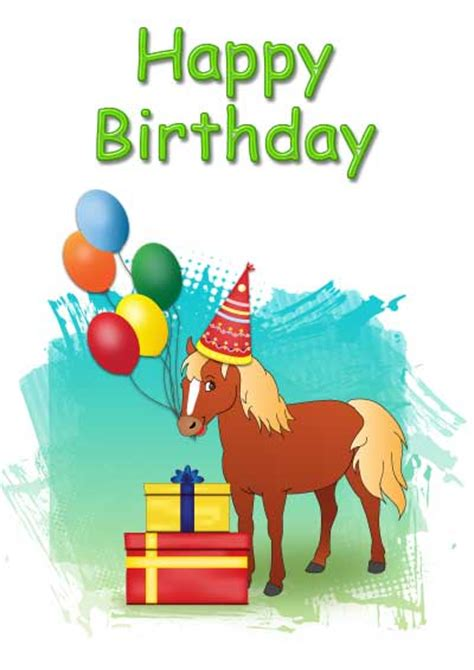 printable birthday cards horses free printable birthday cards kids pre 00001 a5 jpg 400 215 566