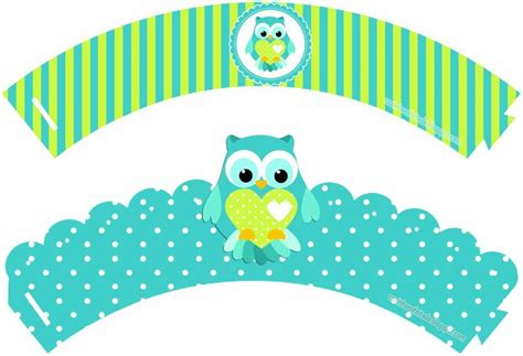 free printable owl cupcake wrappers 600 best images about dise 241 os tarjetas fondos todo
